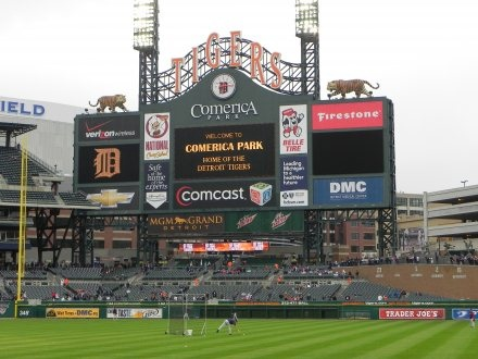 Dave Baker's Baseball Dream Tour: Stadium #17, Comerica Park, Detroit
